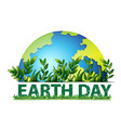 earth day green background vector image