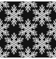 Falling snow seamless pattern White vector image vector image