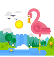 Flat Bird vector image