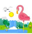 Flat Bird vector image vector image