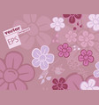 flowernice peach blossom isolated japanese floral vector image vector image