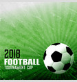 foorball sports background in abstract style vector image