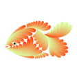 Gold small fish vector image