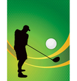 Golf Tournament Silhouette Background vector image