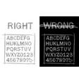 handwritten sloppy style font vector image