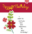 Happy birthday flower vector image