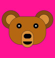 head of a bear in cartoon flat style vector image vector image