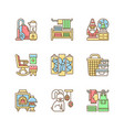 home decor rgb color icons set vector image vector image
