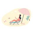 hot summer outdoor recreation on sand beach woman vector image vector image
