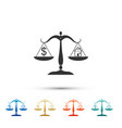 house and dollar symbol on scales icon isolated vector image vector image