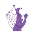 jester man funny vector image vector image