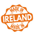 made in ireland sign or stamp vector image vector image