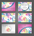 minimal covers set artistic paint pattern vector image vector image