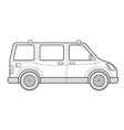 outline van car body style icon vector image