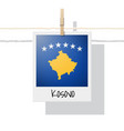 photo of kosovo flag vector image vector image