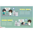 physical therapy center physiotherapist vector image