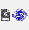 pixelated euro price page icon and vector image vector image