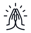 pray icon isolated on white background pray icon vector image vector image