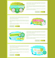 promo price web page template tag and bloomings vector image vector image