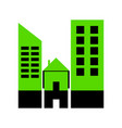 real estate sign green 3d icon with black vector image