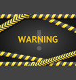 realistic 3d detailed black and yellow line vector image