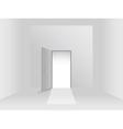 Room with door vector image vector image