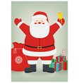 santa claus with gifts on isolated background vector image