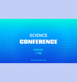 science conference template mock up vector image vector image