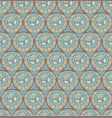 seamless pattern with flower medallions vector image vector image