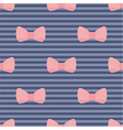 Seamless pink bows on blue pattern vector image vector image