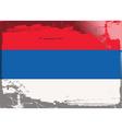 serbia national flag vector image vector image
