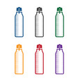 set bottles with energy drinks design template vector image