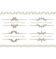set of 4 decorative text dividers frames with vector image