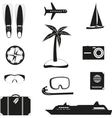 Set of black travel icons vector image vector image