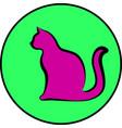 silhouette cat vector image