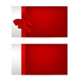Silver gift cards with red ribbons vector image vector image