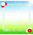 spring banner design vector image vector image