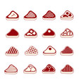 steak meat icons set vector image