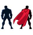 superhero back silhouette vector image vector image