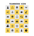 teamwork icons set vector image vector image