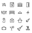 thin line icons - hotel vector image vector image