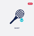 two color racket icon from outdoor activities vector image vector image