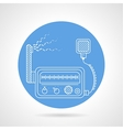 VHF transmitter blue round icon vector image vector image