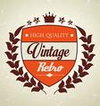 Vintage retro design vector image vector image