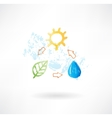 Water cycle grunge icon vector image