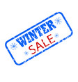 winter sale rubber seal stamp promotion vector image vector image