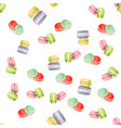 colorful macaroons seamless pattern vector image