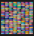 colored web buttons with different gradients vector image