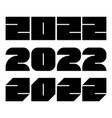 2022 year numbers background vector image vector image