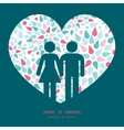 abstract colorful drops couple in love vector image